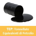 Definizione TEP Tonnellate Equivalenti Petrolio